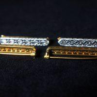 Art Deco Bar Pin Brooch Set 14k, Set of 4 Lingerie Clips