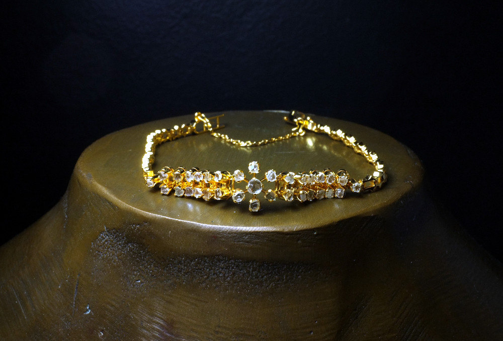 Antique Rose Cut Diamond Bracelet