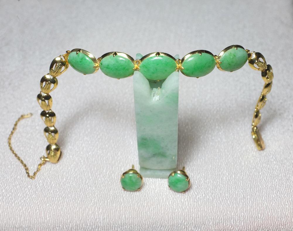 antique jade bracelet peranakan jewelry 20k gem