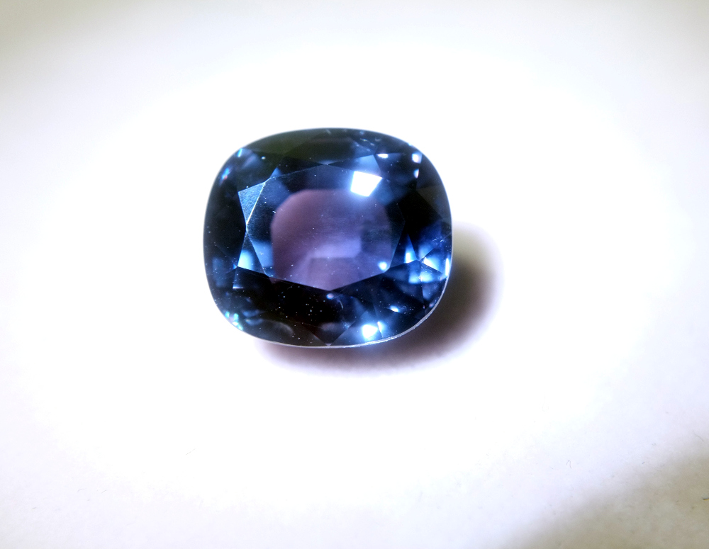 Purple Blue color change sapphire
