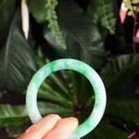apple green jade bangle